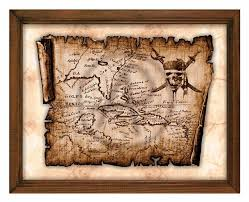 antique pirates of the caribbean old map artjack