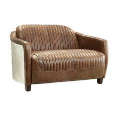 brown leather sofa and loveseat leather loveseats you u0027ll love wayfair