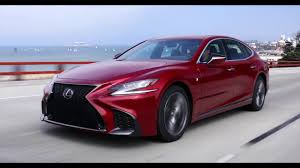 lexus ls400 vs audi a8 2018 lexus ls 500 f sport driving video in matador red youtube