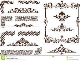vector ornaments frames corners borders stock vector image