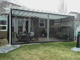 Screened In Pergola by Patio Screening Examples Custom Made Mosquito Curtain Photo Gallery