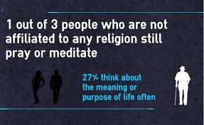the religious or spiritual behaviors and beliefs of those with no