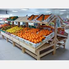 chambre froide pour fruits et l馮umes meuble fruits et légumes en bois présentoir bois primeurs
