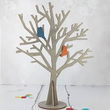 grey wooden tree easter tree jewelry tree wood tree