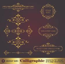decorative golden ornament vector free vector