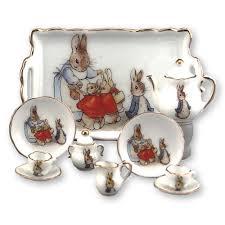 beatrix potter tea set beatrix potter mini collector tea set w tray tea sets