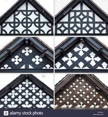 Tudor Design by Decorative Gable End Of Tudor House In Chester England Stock
