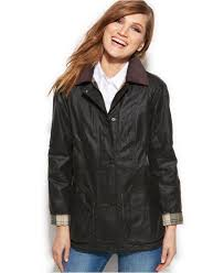 barbour beadnell waxed anorak jacket in green lyst