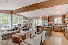 open floor plans for small houses living room wooden floor chandelier ceiling light sleep sofa arm