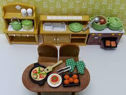 sylvanian families cuisine chérie sylvanian families kitchen cooking set