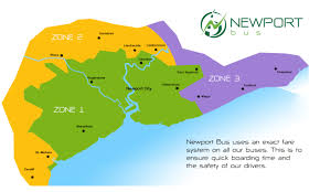 Uk Time Zone Map by Bus Travel Zones Newport Cardiff Cwmbran Chepstow