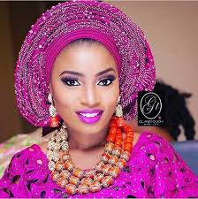african make and asooke hair styles beaded aso oke jewelry beads wedding attire i love my heritage