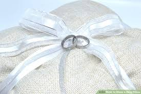 ring pillow 4 ways to make a ring pillow wikihow