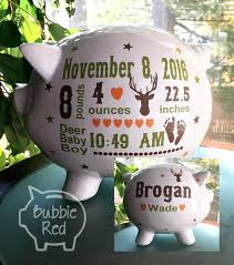 monogrammed piggy banks engraved piggy banks mini baby boy piggy bank personalized silver