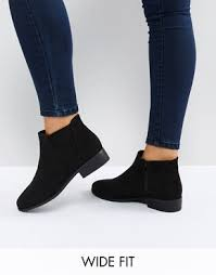 womens size 9 wide fit boots ankle boots flat heeled ankle booties asos