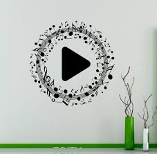 online get cheap music notes wall decor aliexpress com alibaba musical notes wall vinyl decal play button removable sticker music bar club home decor creative murals