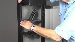 Wall Mounted Gun Safe Home Defense Center Tactical Gun Safe By Sentry Safe Review Youtube