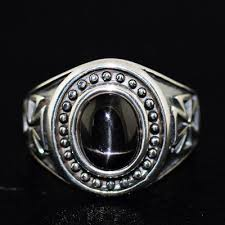 gothic rings men images Japan gothic jewelry black star stone cross medal silver 925 jpg