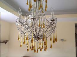 Teardrop Crystals Chandelier Parts Tear Drop Glass And Crystal Chandelier Murano Venini Style At