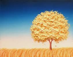 contemporary modern art print gold tree art print minimalist