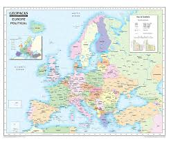 Europe Map 1500 Childrens Map Of Europe Reversible Political Physical