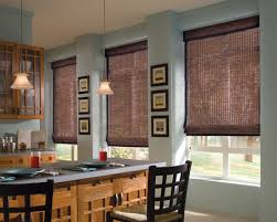 provenance woven wood shades with cordlock in the kitchen room