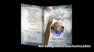 Template For A Funeral Program How To Customize A Funeral Program Template Video Dailymotion