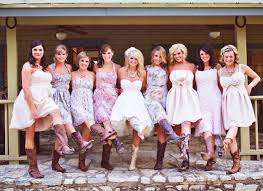 beige bridesmaid dresses with cowboy boots salecards org