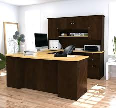 Office Desk U Shape Office Desk U Shape Manhattan Collection Shaped In Chocolate Maple