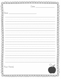 printable lined writing paper writing paper template crafts worksheets and activities blank lined paper paging supermom school pen pal news friendly letter freebie leveled writing pen kindergarten writing