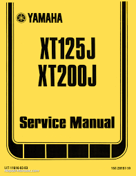 1982 yamaha xt125j xt200j motorcycle service manual
