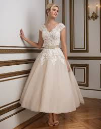 tea length fifities wedding dresses vintage retro shorter