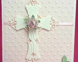 religious cross card baptism card christening