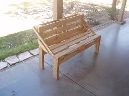 Pallet Patio Furniture Ideas by Pallet Bench Project 6 Steps With Pictures
