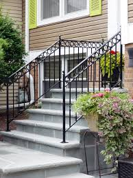 Outside Banister Railings Stairs Amazing Iron Railing For Outside Steps Outdoor Railings
