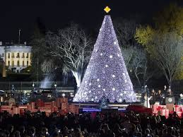 Red And White Christmas Lights by Barack And Michelle Obama Light National Christmas Tree For The