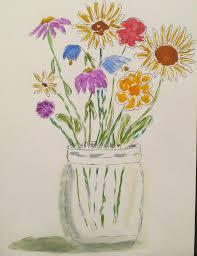 jar flowers flowers in jar painting by lawson kester