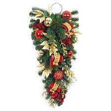 christmas swag christmas wreaths u0026 garland the home depot