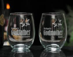 godmother wine glass godparent gift godmother wine glass godfather wine glass