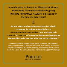 purdue alumni search discount for purdue pharmacy alumni on paa lifetime membership in