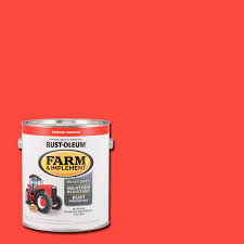 rust oleum 1 gal farm and implement kubota orange paint case of