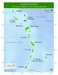 Map Of The Caribbean Islands by Impressum