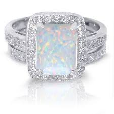 opal wedding ring sets opal engagement ring ebay