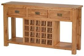 buy cherbourg oak sideboard with wine rack online cfs uk
