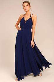 lovely navy blue dress lace dress maxi dress 106 00