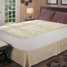 latex foam core pillow top queen king cal king size mattress pad