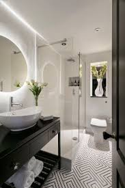 Black And White Bathrooms Ideas by Best 25 Round Bathroom Mirror Ideas On Pinterest Minimal