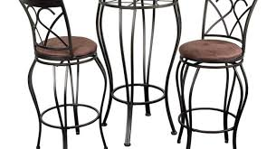 Small Outdoor Bistro Table with Bar Round Dining Table Small Bistro Table Set 3 Piece Kitchen