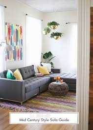 Pictures Of Living Rooms With Tan Couches The Ultimate Mid Century Style Sofa Guide U2013 A Beautiful Mess