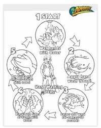 Hand Washing Coloring Sheets - hands coloring pages